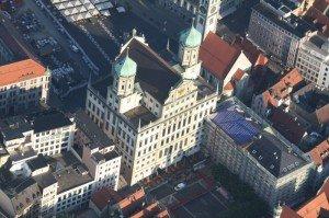 ballonfahrt über Augsburg