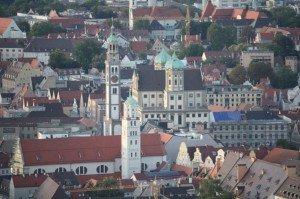 Augsburg Rathaus aus der Luft