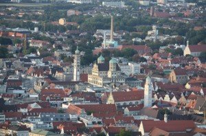 ballonfahrten über Augsburg