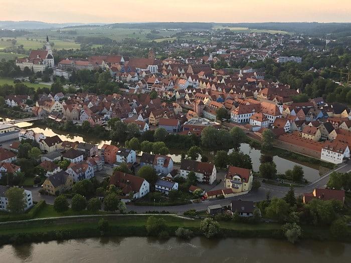 Donauwörth aus der Luft