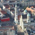 Augsburger Rathaus aus der Luft