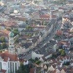 maxstrasse und St Ulrich Augsburg