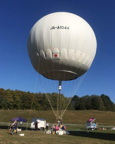 Gasballon vor dem Start