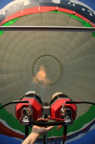 Der Ballonbrenner unseres Heissluftballons
