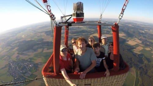 Inflightfoto von Ihrem Ausflug im Heissluftballon