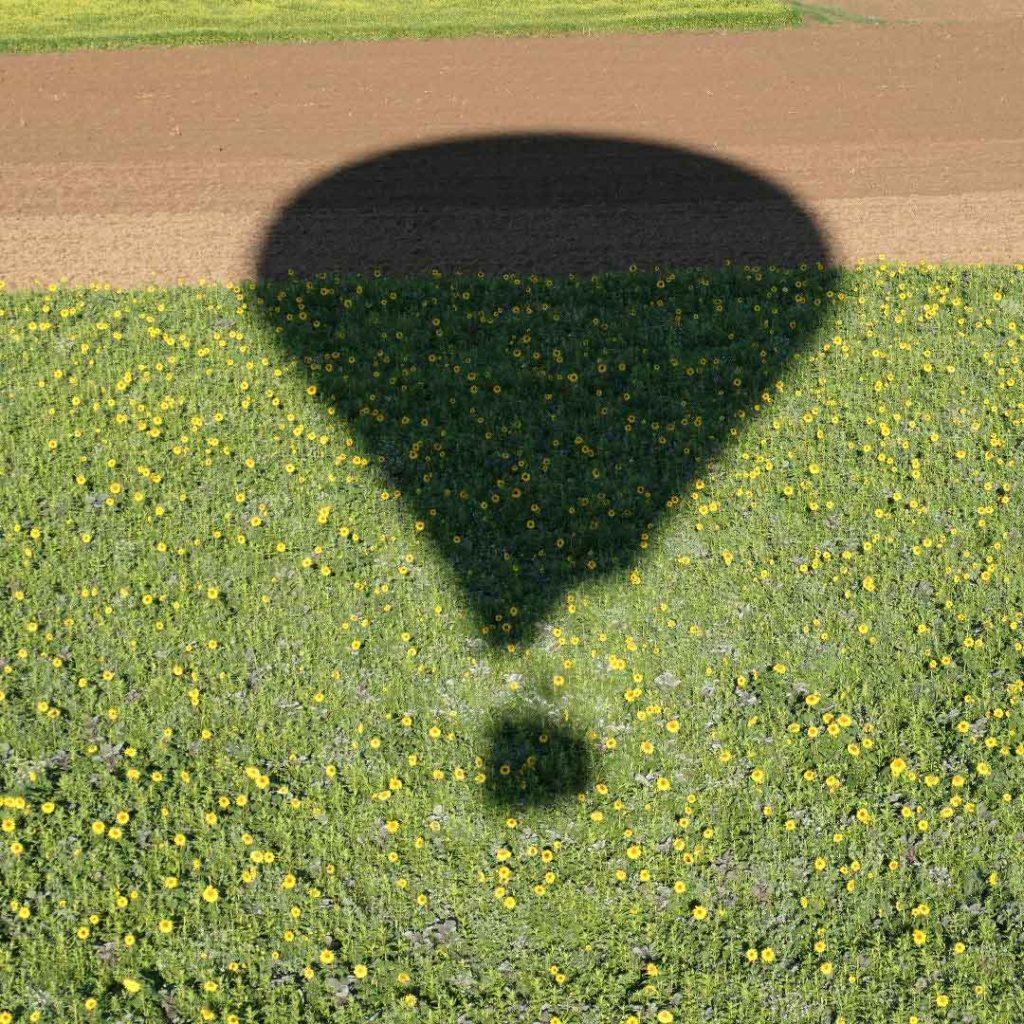 Im Ballon über Augsburg und dem Umland.