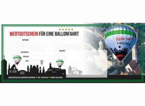 Wertgutschein für eine Ballonfahrt über Augsburg
