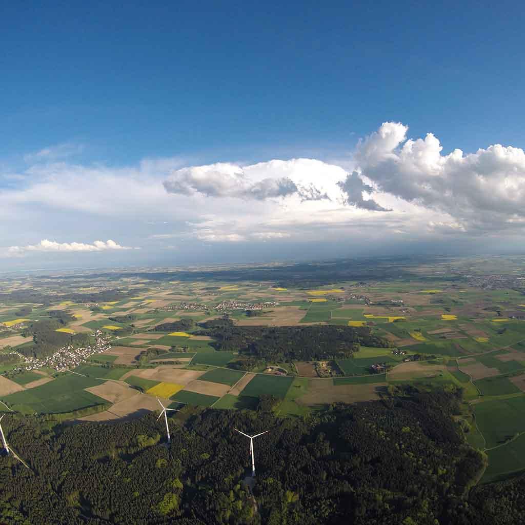 Landschaft über Augsburg