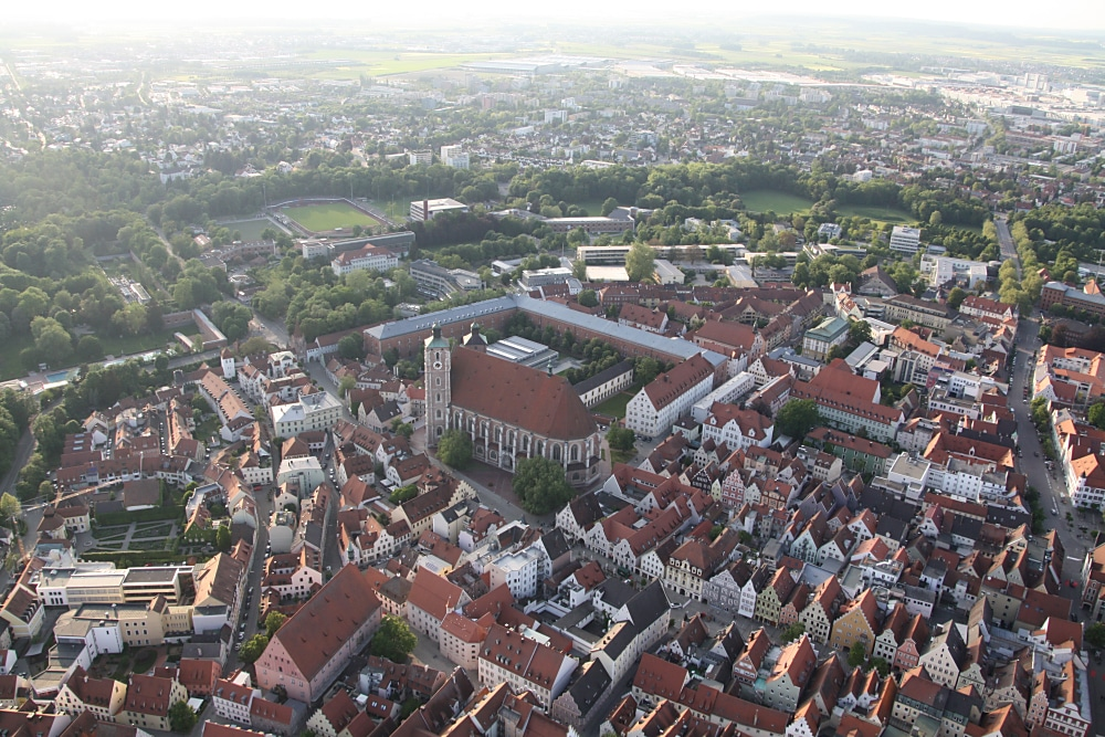 Ballonfahrt über Ingolstadt
