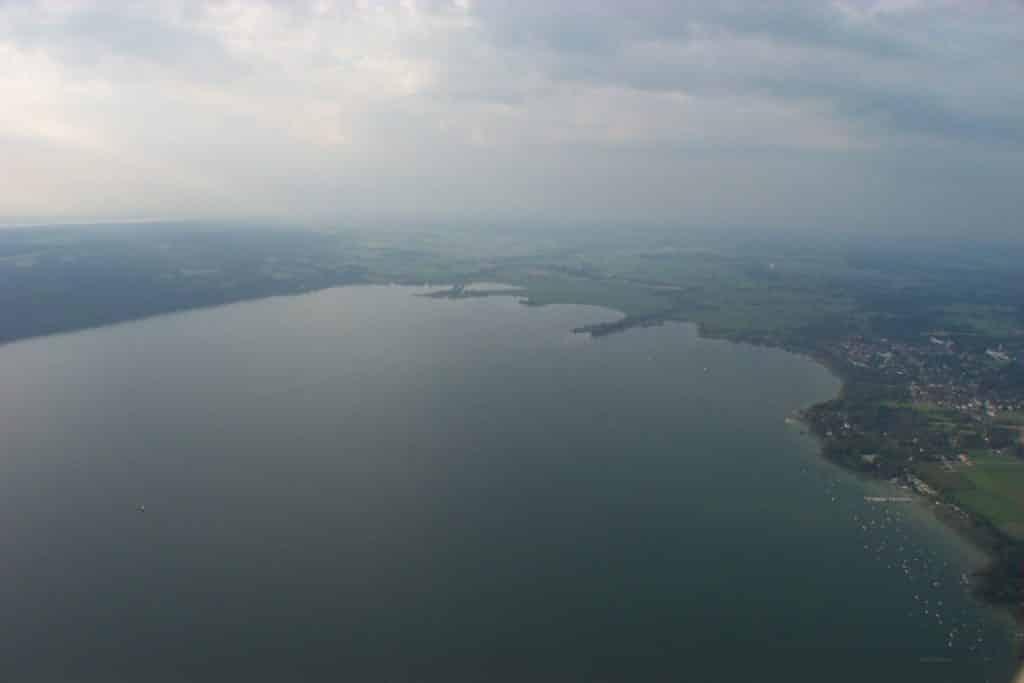 Ballonfahrt über dem Ammersee von Landsberg am Lech aus