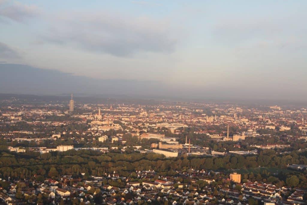 Die Stadt Augsburg von Friedberg aus gesehen!