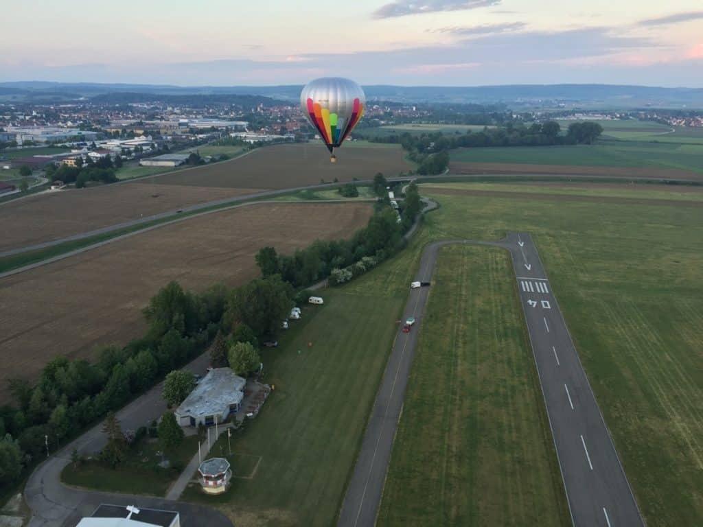Ballonstart in Nördlingen im Ries.