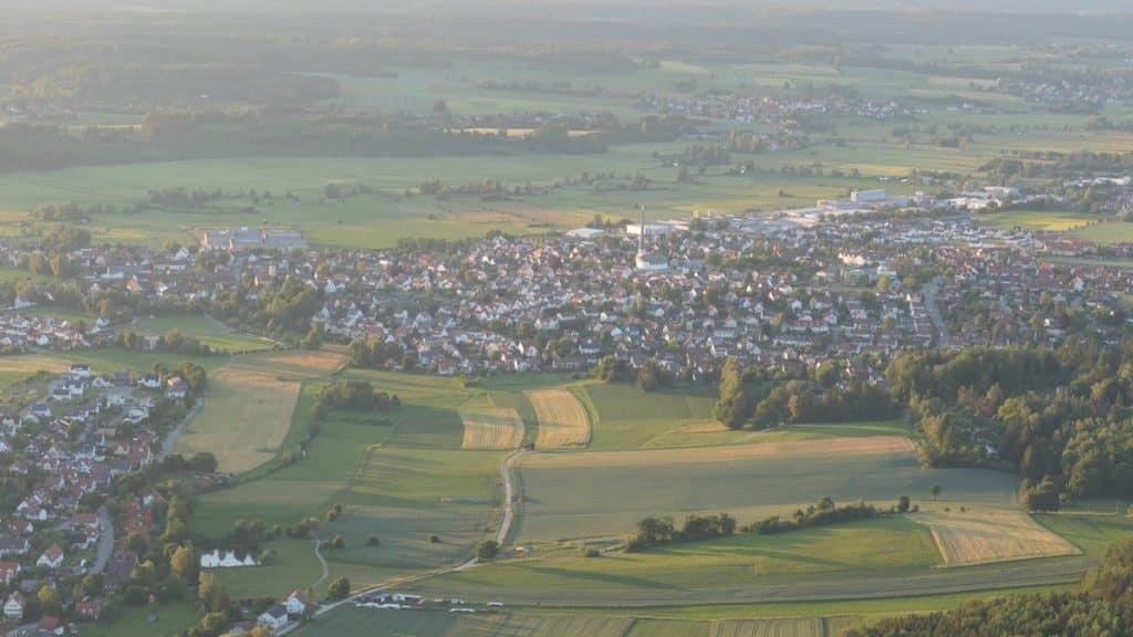 Diedorf aus dem Ballonkorb