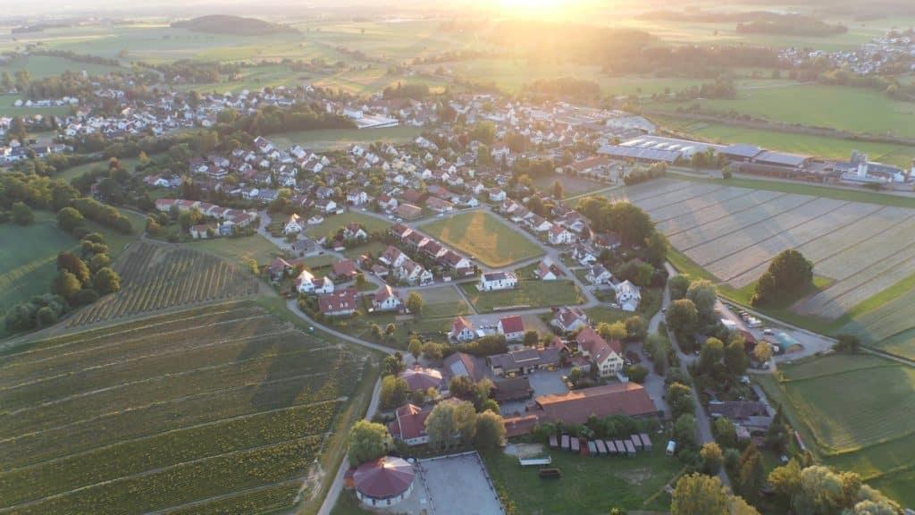 Gessertshausen aus der Luft