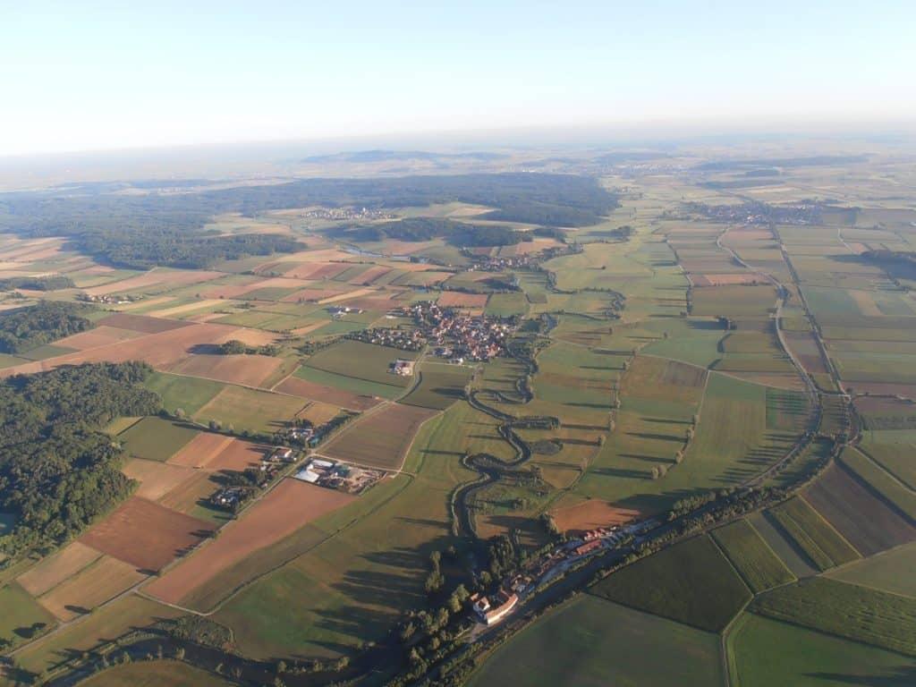 Ballonfahrt über Oettingen in Bayern