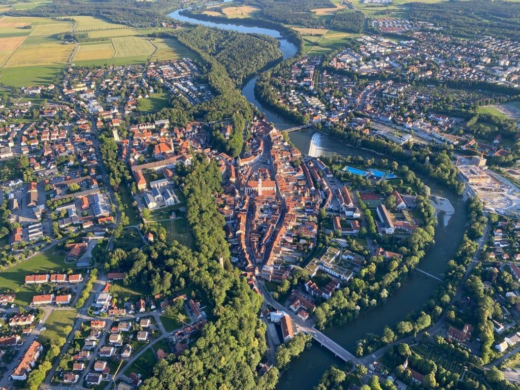 Landsberg am Lech aus dem Heissluftballon